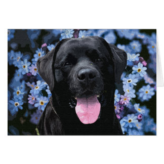Black Labrador - Forget Me Not Card