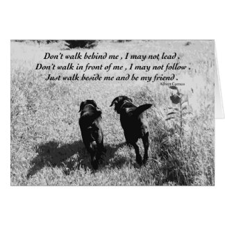 Black Labrador Friends Quote Card