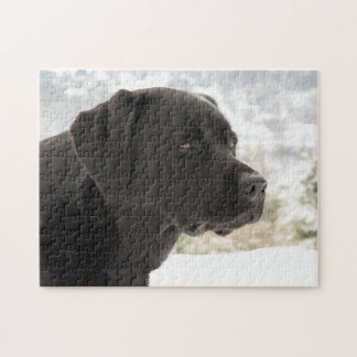 Black Labrador - Gazing Views Jigsaw Puzzle