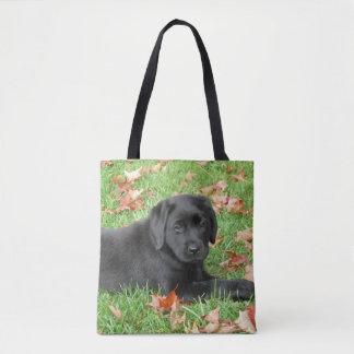 Black Labrador - Joy of Autumn Tote Bag