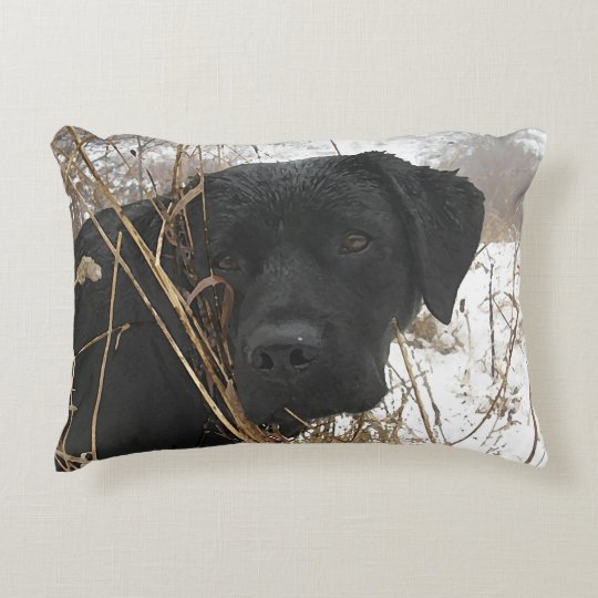 Black Labrador - Late Season Hunt Accent Pillow
