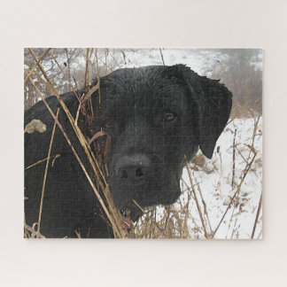 Black Labrador - Late Season Hunt Jigsaw Puzzle