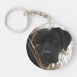 Black Labrador - Late Season Hunt Keychain