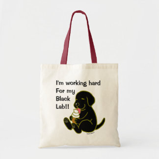 Black Labrador Licking Ice Cream Tote Bag