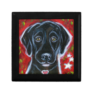 Black Labrador love Gift Box