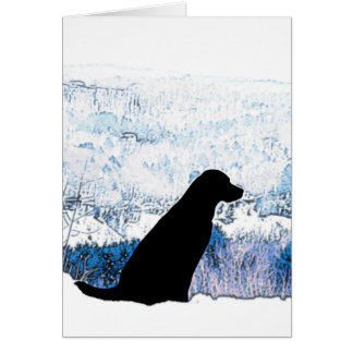 Black Labrador - Mountain Views Card