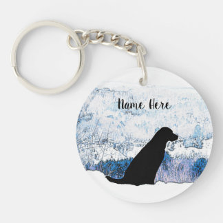Black Labrador - Mountain Views Keychain