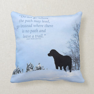 Black Labrador - Path Life Quote 2 Throw Pillow