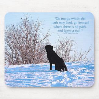 Black Labrador - Path Life Quote Mouse Pad