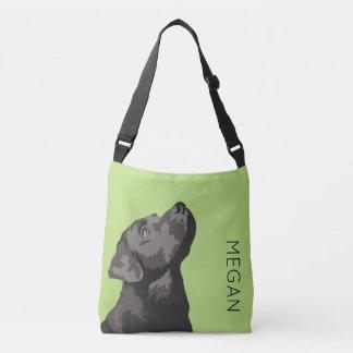Black Labrador Personalised Cross Body Bag