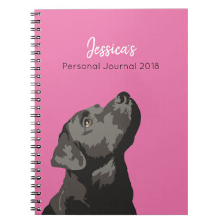 Black Labrador Personalised Journal Notebook