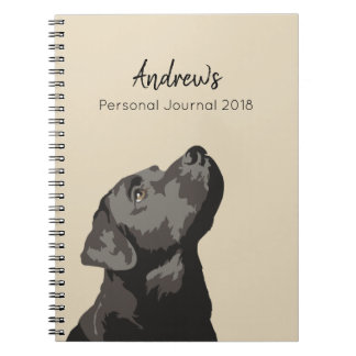 Black Labrador Personalised Journal Notebook