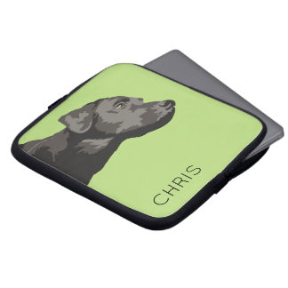 Black Labrador Personalised Laptop Sleeve