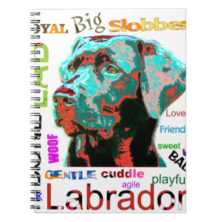 Black Labrador Pop Art Design Notebook
