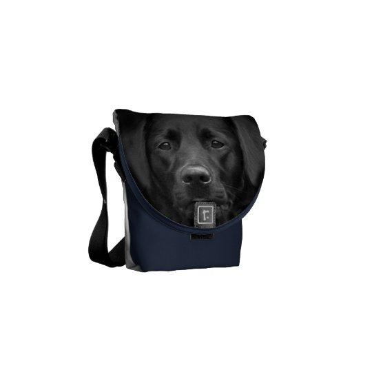 Black Labrador Portrait Bum Bag Messenger Bag