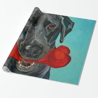 Black Labrador Portrait Gift Wrap