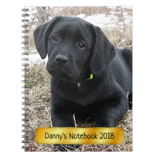 Black Labrador Puppy - Awaiting Spring Notebook
