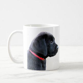 Black Labrador Puppy Coffee Mug