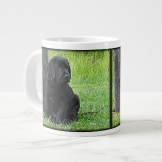 Black Labrador Puppy - Day at the Pond Large Coffee Mug