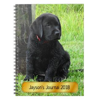 Black Labrador Puppy - Puppy Days of Summer Notebook