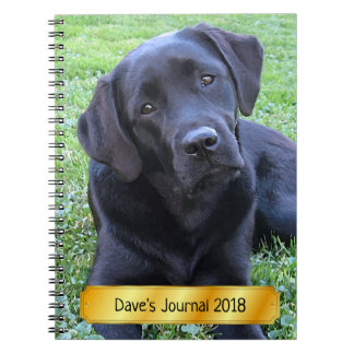 Black Labrador Puppy - Spring Day Notebook