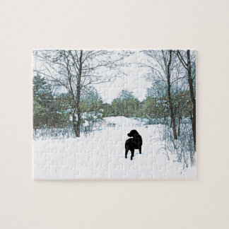 Black Labrador Quote - Treasures Jigsaw Puzzle
