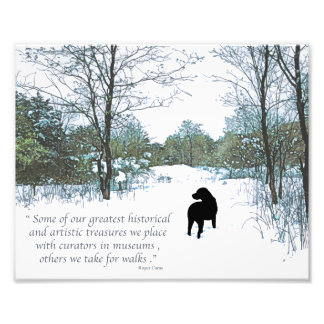 Black Labrador Quote - Treasures Photo Print
