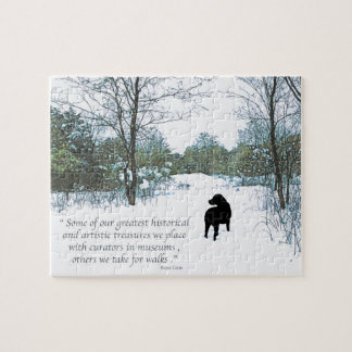 Black Labrador Quote - Treasures Puzzle