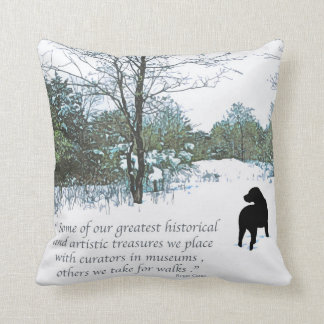 Black Labrador Quote - Treasures Throw Pillow