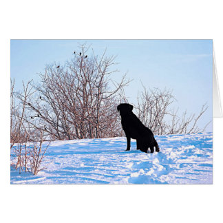 Black Labrador Quote - What Lies Within Us Card