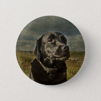 Black Labrador Retriever 2 Inch Round Button