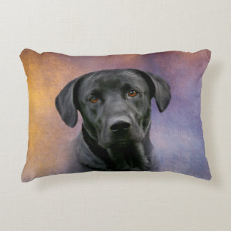 Black Labrador Retriever Accent Pillow