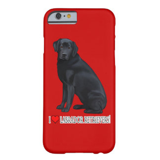 Black Labrador Retriever Barely There iPhone 6 Case