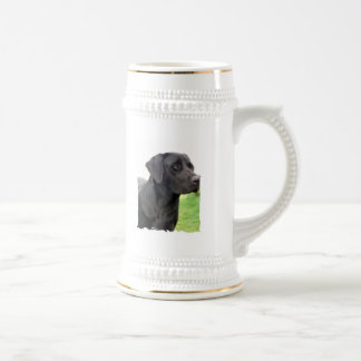 Black Labrador Retriever Beer Stein