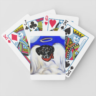 Black Labrador Retriever Bicycle Playing Cards
