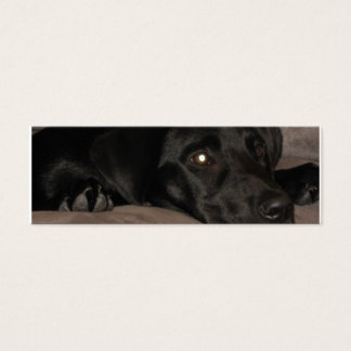 Black Labrador Retriever Bookmark Mini Business Card