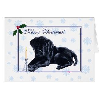 Black Labrador Retriever Christmas Snowflake Card
