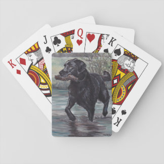 Black Labrador Retriever Dog Art Playing Cards