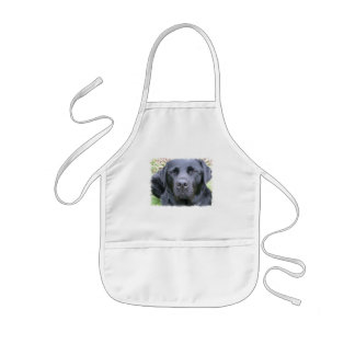 Black Labrador Retriever Dog Children's Smock Kids Apron