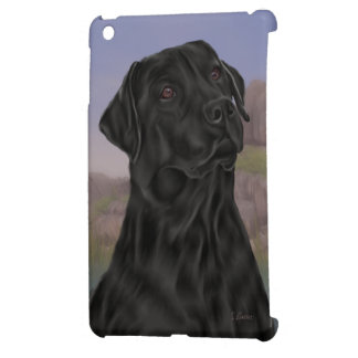 Black Labrador Retriever Dog iPad Mini Cover