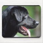 Black Labrador Retriever Dog Mouse Mats