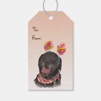 Black Labrador Retriever Dog Pack of Gift Tags