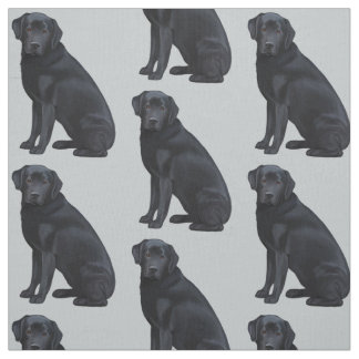 Black Labrador Retriever Fabric