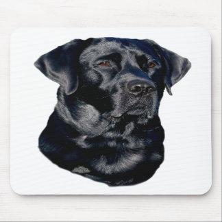 Black Labrador Retriever head mousepad