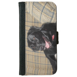 Black Labrador retriever iPhone wallet case