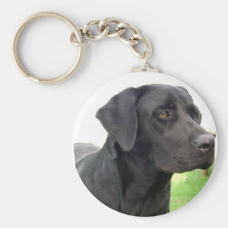 Black Labrador Retriever Keychain