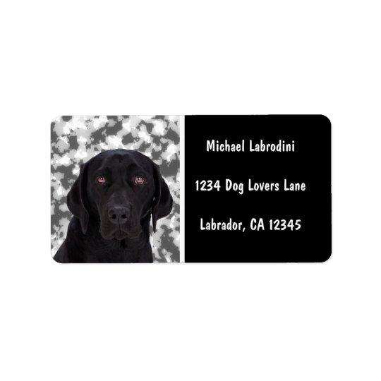 Black Labrador Retriever Label