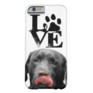 Black Labrador Retriever LOVE iphone 6 6s cover