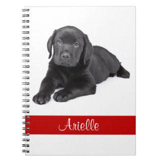 Black Labrador Retriever Personalized Notebook
