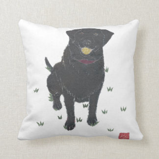 Black Labrador Retriever Pillow